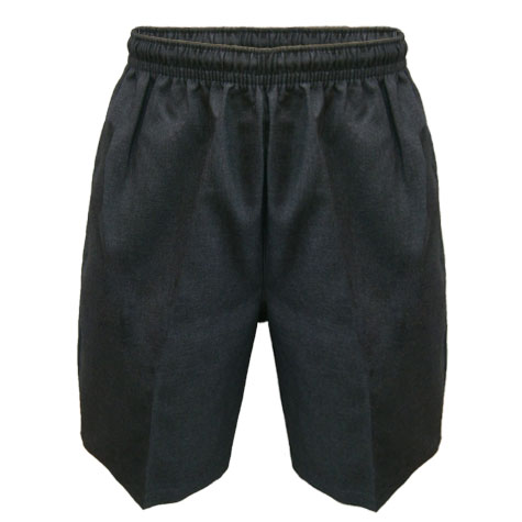 Grey Melange Tailored Shorts